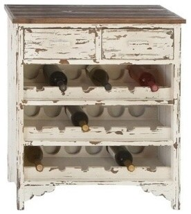 Classic Wood Wine Cabinet - Rustic - Wine And Bar Cabinets - by AMB ...