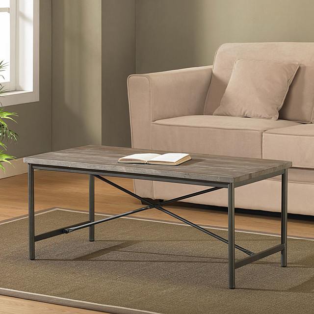Elements Cross Design Grey Coffee Table Contemporary Coffee Tables By