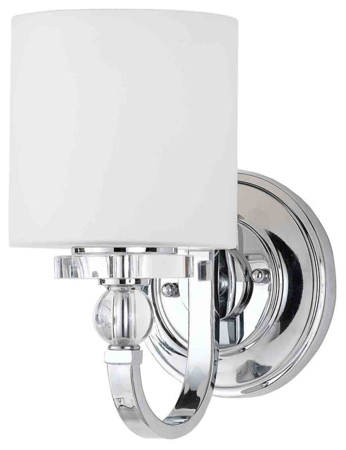 Downtown Polished Chrome Wall Sconce - Transitional - Wall Sconces - by Littman Bros Lighting