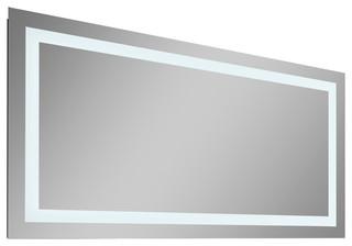 Unique  48quot Contemporary Illuminated LED Bathroom Mirror By Nezza USA  EBay