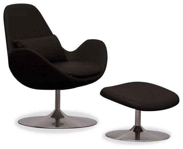 loungesessel houston semianilinleder schwarz niedrig mit. Black Bedroom Furniture Sets. Home Design Ideas