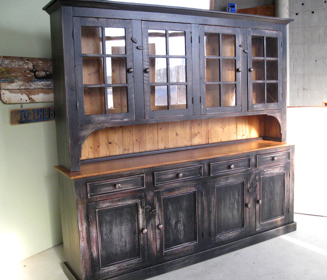 Large Reclaimed Wood Hutch - Rustic - China Cabinets And Hutches - boston - by LakeandMountainHome