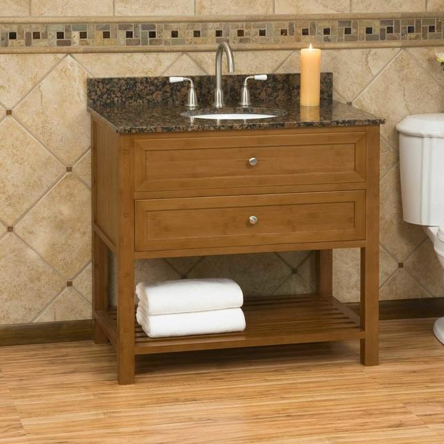 36 Taren Bamboo Vanity For Undermount Sink Modern Bathroom Vanities And Sink Consoles