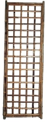 Framed Bamboo Lattice Panel Square Pattern Opening 24 Quot W