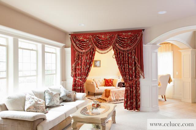 Quot Louis Xvi Royal Red Valance Quot Elegant Designer Curtains
