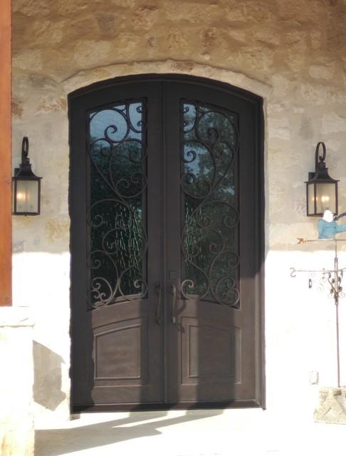 wrought iron doors mediterranean front doors austin