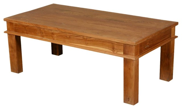 48 solid teak wood danish rustic coffee table rustic coffee tables by sierra living concepts Solid teak coffee table