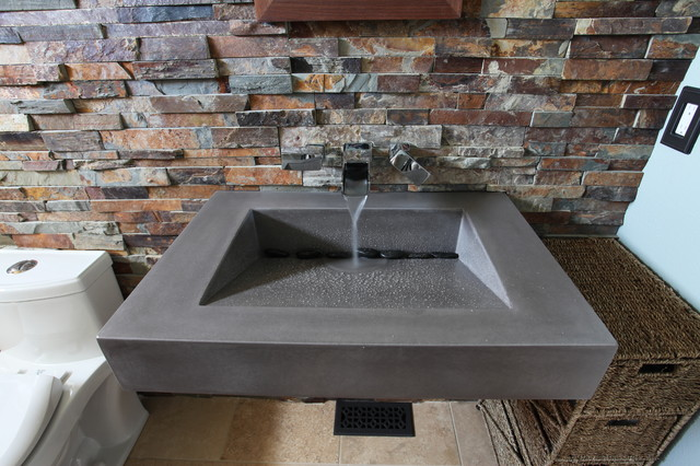 Floating Concrete Bathroom Sink - Contemporary - Bathroom - new york ...