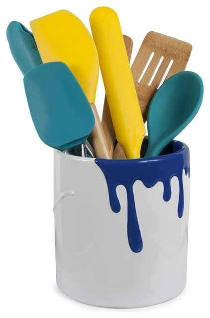Paint bucket utensil holder azure modern utensil for Modern kitchen utensil