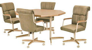 Furniture of america CM3219RT 5 pc amina champagne finish