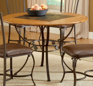 Hillsdale Lakeview 45x45 Round Dining Table Contemporary Dining Tables