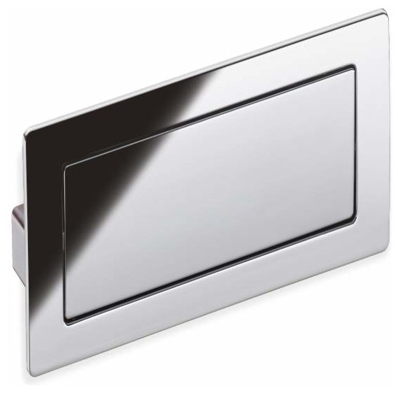 Schwinn Hardware Covered Flush Pull, 4 5/7 Inch Polished Chrome - Contemporary - Cabinet And ...