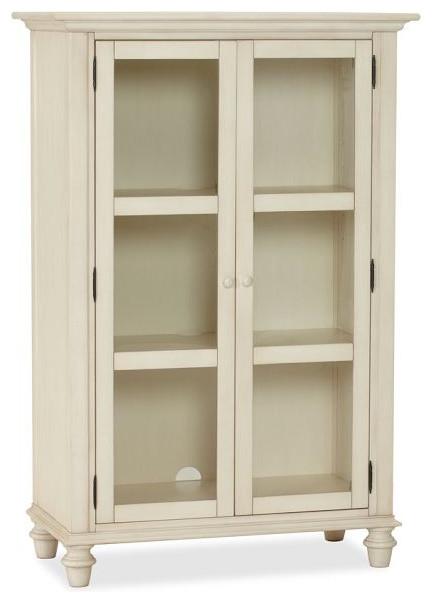 Tivoli Glass Cabinet, Almond White - Traditional - Storage Cabinets - by Pottery Barn