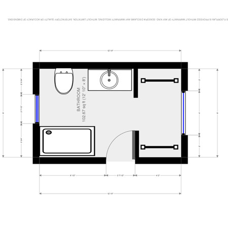 Cross post bathroom addition plans for Bathroom designs 8x8