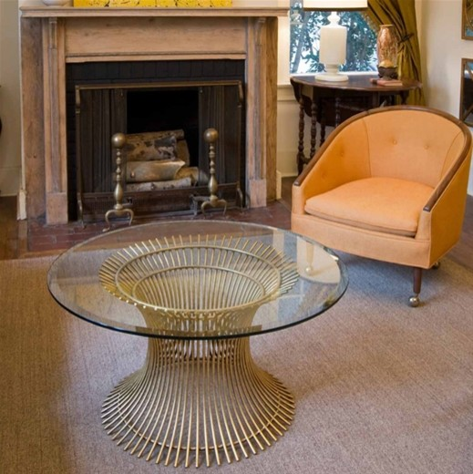 Worlds Away Powell Coffee Table With Beveled Glass Modern Coffee Tables By Layla Grayce