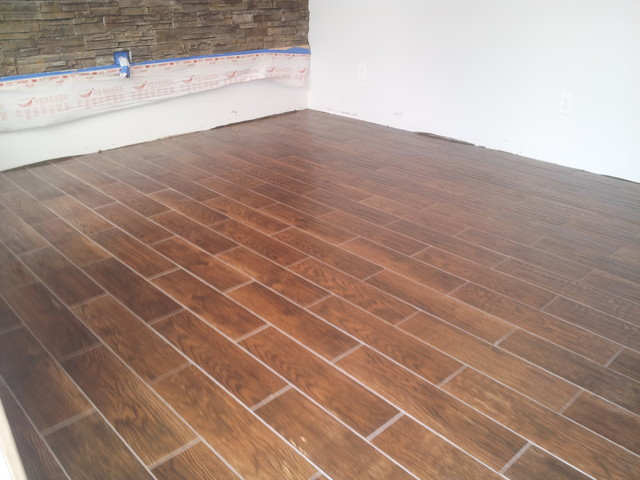 6 x 24 floor tile that looks like wood planking above rpm mats heat wire Ceramic tile that looks like wood flooring