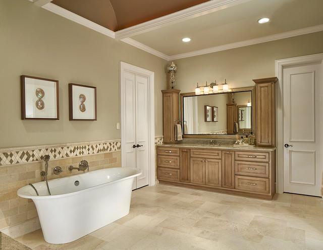 Open Concept Master Bathroom Transitional Bathroom