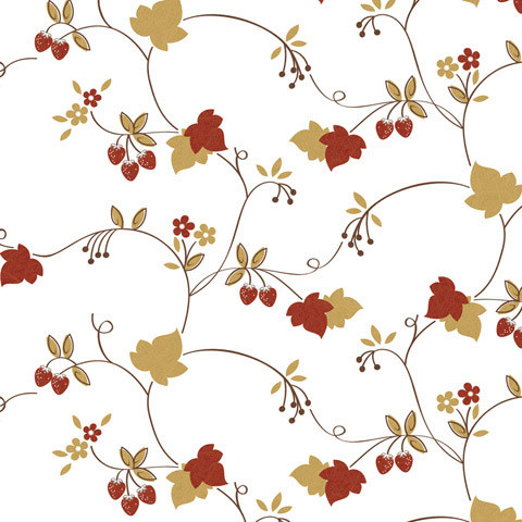 Strawberries and Gold Shelf Paper Drawer Liner, 120x12, Matte Paper ...