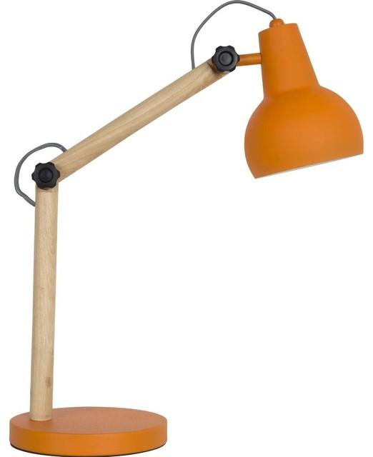 lampe poser bois m tal study couleur orange scandinave. Black Bedroom Furniture Sets. Home Design Ideas