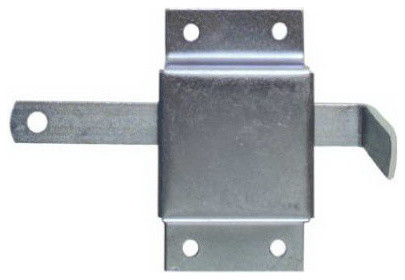 "Zinc Garage Door Side Lock 5.5"", Set of 3 - Modern - Garage Doors And Openers - by Midland Hardware"