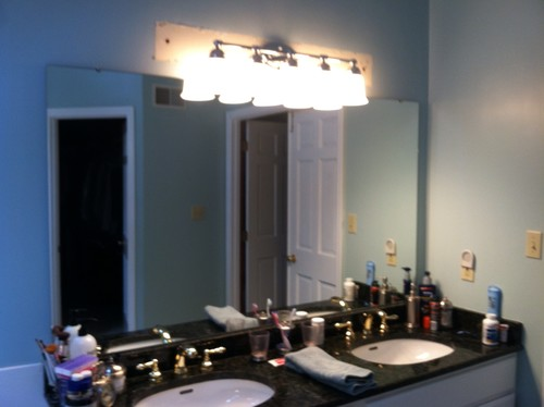 Hanging Vanity Lights Over Mirror : Bathroom lights!