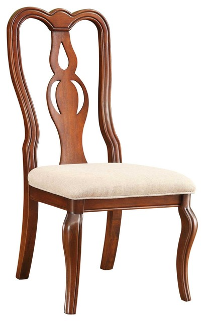 Beamont traditional cherry side chair traditional dining chairs