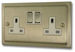 Satin nickel socket - Modern switches and sockets ...