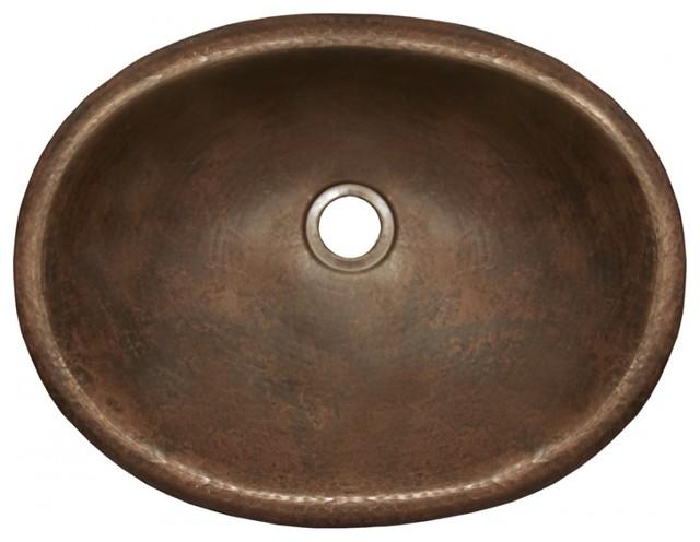 Antique Copper Drop-In Bathroom Sink - Rustic - Bathroom Sinks - by Unique Vanities