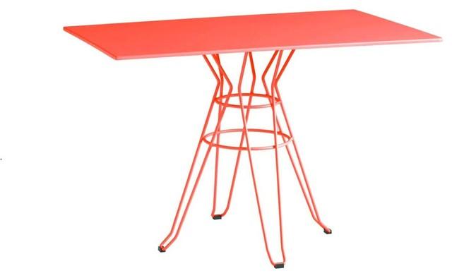 Table de jardin design rectangle 110x70 alameda couleur for Table exterieur orange