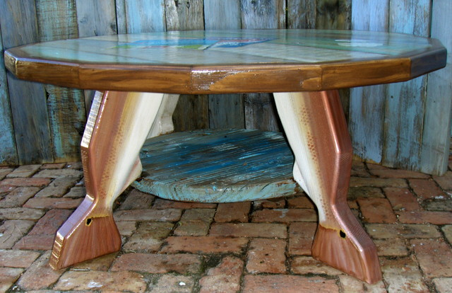 Redfish coffee table eclectic coffee tables miami Eclectic coffee table makeovers
