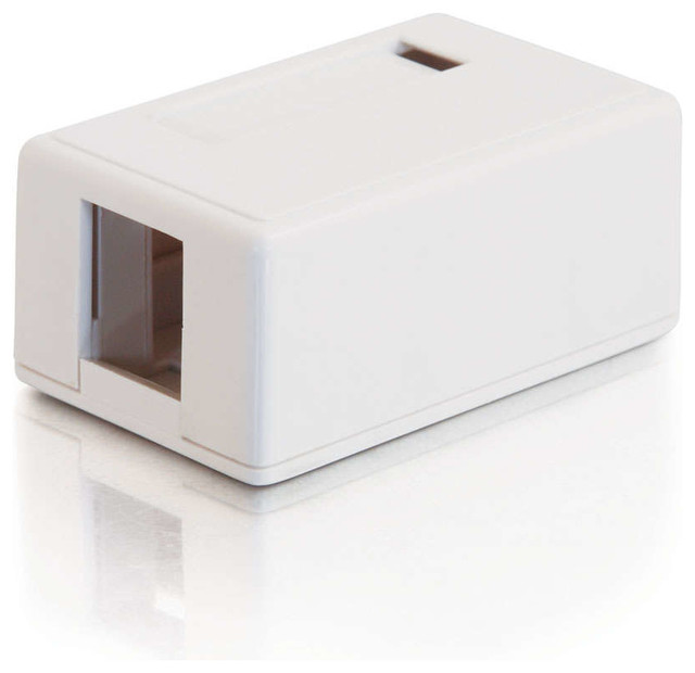 15 Keystone Surface Mount Box 1 Port, White - Switch Plates And Outlet Covers - by C2G