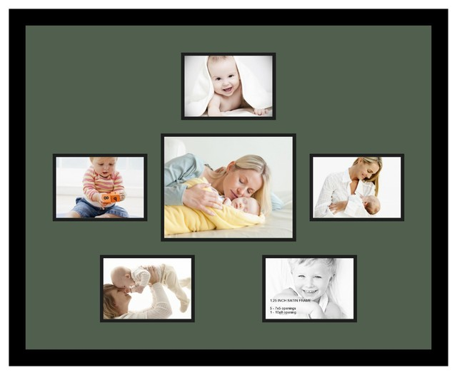 Arttoframes collage photo frame with 1 8x10 and 5 5x7 for Modern collage frame