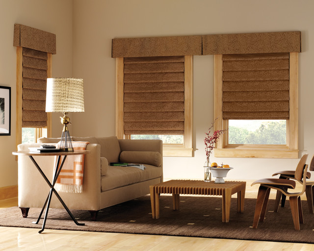 Hunter douglas casual living window treatments modern for Casual curtain ideas for living room