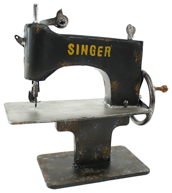 Singer Metal Sewing Machine Decor - Shabby chic - Sewing Machines - by Aspire Home Accents, Inc.