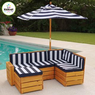 Kidskraft Red Outdoor Sammu Wood Sectional Cushions