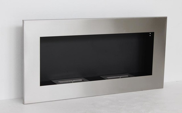 Verra Modern Recessed Ventless Ethanol Fireplaces Modern Indoor Fireplaces New York By