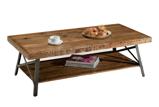 Chandler Reclaimed Wood Table - Traditional - Coffee Tables - by Emerald Home