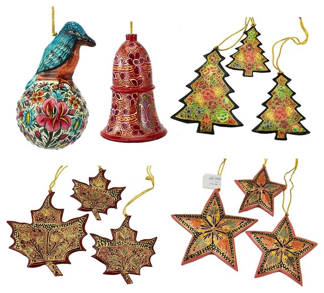 Christmas Ornaments Holiday Decorations Robin Ball Bell