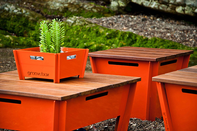 Groovebox Low Stool Modern Outdoor Footstools And Ottomans