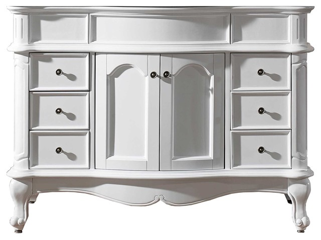 norhaven 48 single bathroom vanity cabinet in white transitional