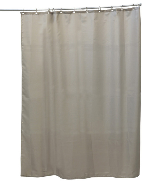 Shower Curtain Polyester Solid Taupe 71Wx79L 12 Color