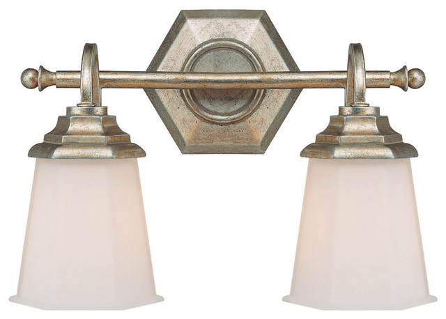 Winter Gold Vanity Lights : Capital Lighting 1067WG-101 Fifth Avenue 2-Light Vanity Fixture, Winter Gold - Traditional ...