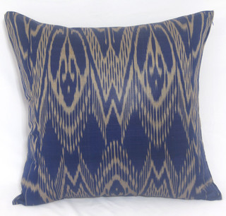 Traditional Accent Pillows : ikat pillow covers, ikat, ikat cushion, yellow ikat, blue ikat, red ikat, ikat - Traditional ...