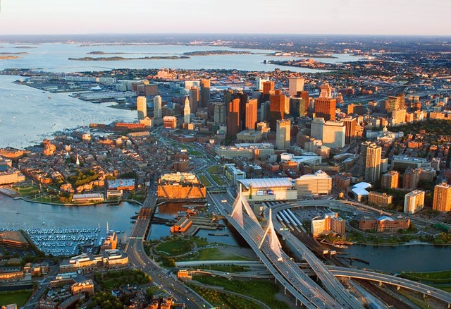 Boston afternoon wall mural contemporary wallpaper for Boston wall mural