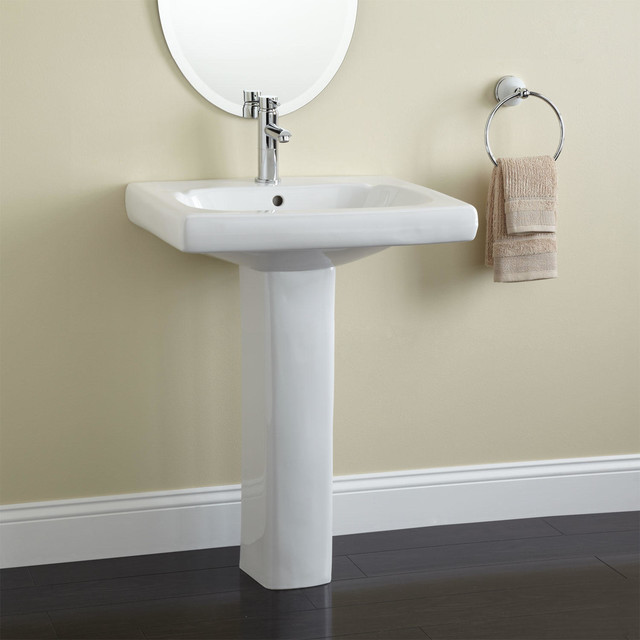 Melus Pedestal Sink Traditional Bathroom Sinks