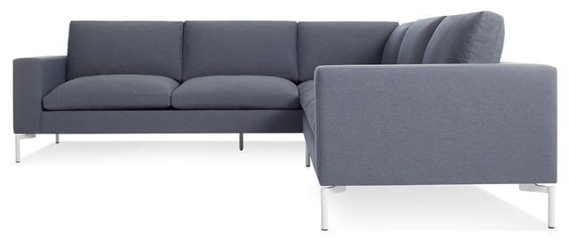 New Standard Sectional Sofa Small Nixon Blue White