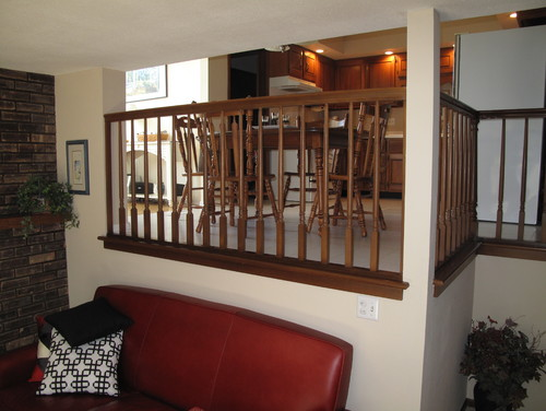 How To Best Deal With Prominent Railings In Split Level Home
