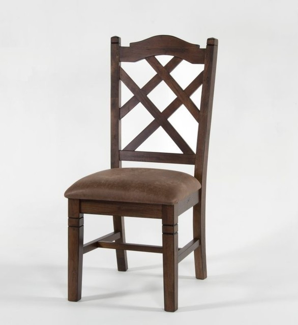 Double Crossback Cushioned Side Chair Dining Chairs by  : dining chairs from www.houzz.com size 586 x 640 jpeg 39kB