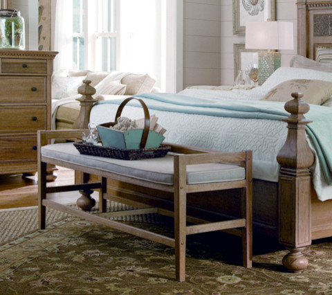 Paula deen bed bench in oatmeal traditional Furniture land south