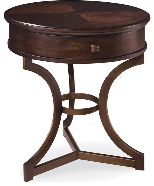 A R T Furniture Intrigue Round End Table Transitional